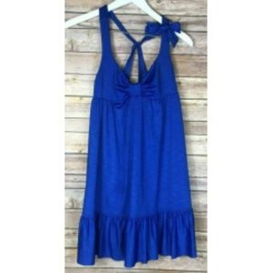 BETSEY JOHNSON Royal Blue Swim Dress Cover Up XS/S